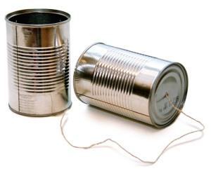 Dåser med snor imellem (intern kommunikation)