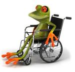 Frø i kørestol